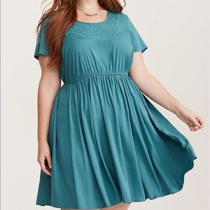 Adorable Teal Dress by Torrid Size 2